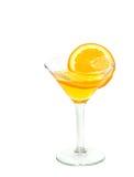 Orange Martini. A orange flavored cocktail on white Stock Photos