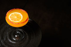 Orange Martini-Cocktail Lizenzfreie Stockfotos