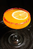 Orange Martini-Cocktail Lizenzfreie Stockfotografie