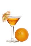 Orange Martini With An Umbrella Royalty Free Stock Image