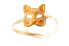 Orange mask Royalty Free Stock Photography