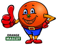 Orange Maskottchen Stockfotos