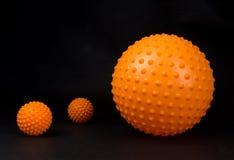 Orange Massagebälle Lizenzfreies Stockfoto