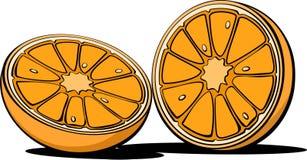 Orange materiel för fruktillustrationbild Arkivfoton