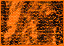 Orange matrix. Ones and zeros Stock Photo
