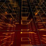 Orange matrix room Royalty Free Stock Image