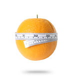 Orange with measuring Stock Photo