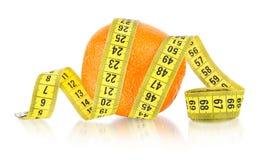 Orange with measuring Royalty Free Stock Image