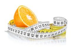 Orange with measuring Stock Photo