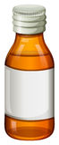 An orange medical bottle Royalty Free Stock Photo