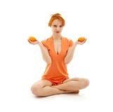 Orange Meditaton Royalty Free Stock Photography