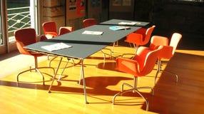 Orange meeting room. Meeting room with orange chairs royalty free stock image