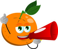 Orange with megaphone Stock Image