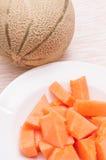 Orange melon Royalty Free Stock Photography