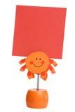 Orange memo holder Stock Image