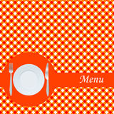 Orange menu card Stock Images