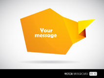 Orange message bubble for your text. Stock Photo