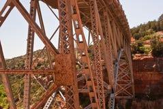 Orange Metal Bridge Royalty Free Stock Photography