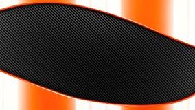 Orange Metal and carbon black and grey  background 3d render. Stock Image