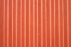 Orange metal corrugated wall Royalty Free Stock Photo