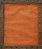 Orange metal plate Stock Photos