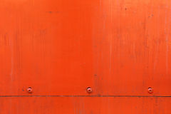 Orange metal plate Stock Images