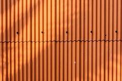 Orange metal sheet roof Royalty Free Stock Photos