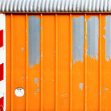 Orange metal wall Stock Photo