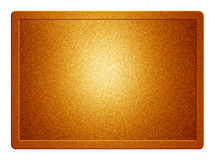 Orange Metallic Plate. With clippingpath for white background removal Stock Photography