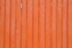 Orange metallische Wand stockbild