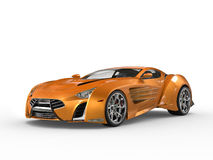 Orange metallisk supercar Arkivbilder