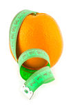 Orange and meter Stock Image