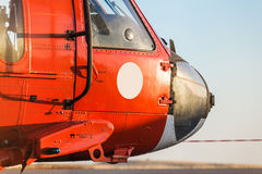Orange military helicopter Royalty Free Stock Photography