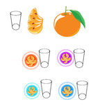 Orange and milk good for health Stock Image