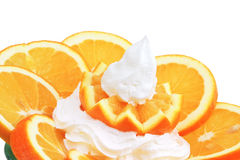 Orange and milky cream Royalty Free Stock Images