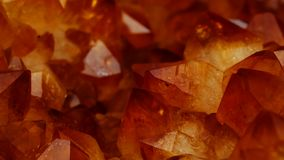 Mineral Citrine quartz cluster crystal texture royalty free stock photos