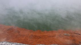 Orange mineral crust of champagne Pool stock video