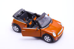 Orange mini cooper Royalty Free Stock Photo