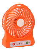 Orange mini- fan Royaltyfri Foto