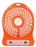 Orange mini fan Royalty Free Stock Images