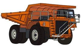Orange mining dump truck Royalty Free Stock Photography