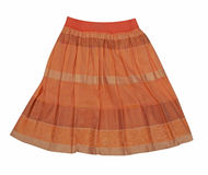 Orange miniskirt Stock Images