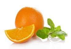 Orange with mint Stock Photo
