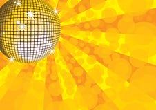 Orange mirror disco ball. Royalty Free Stock Photos