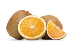 Orange Mischkiwi lizenzfreie stockbilder