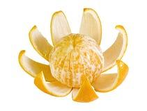 Orange mit Schale Lizenzfreie Stockfotografie