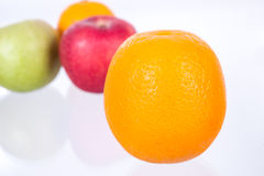 Orange on Mixed fruits  background Royalty Free Stock Photography