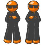 Orange Mobster Men Stock Photo