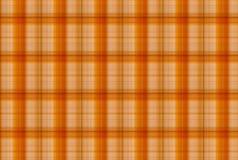 Orange modell för tartan - plädklädtabell Fotografering för Bildbyråer