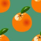 Orange modell för vektor på mörker - grön bakgrund Royaltyfri Bild